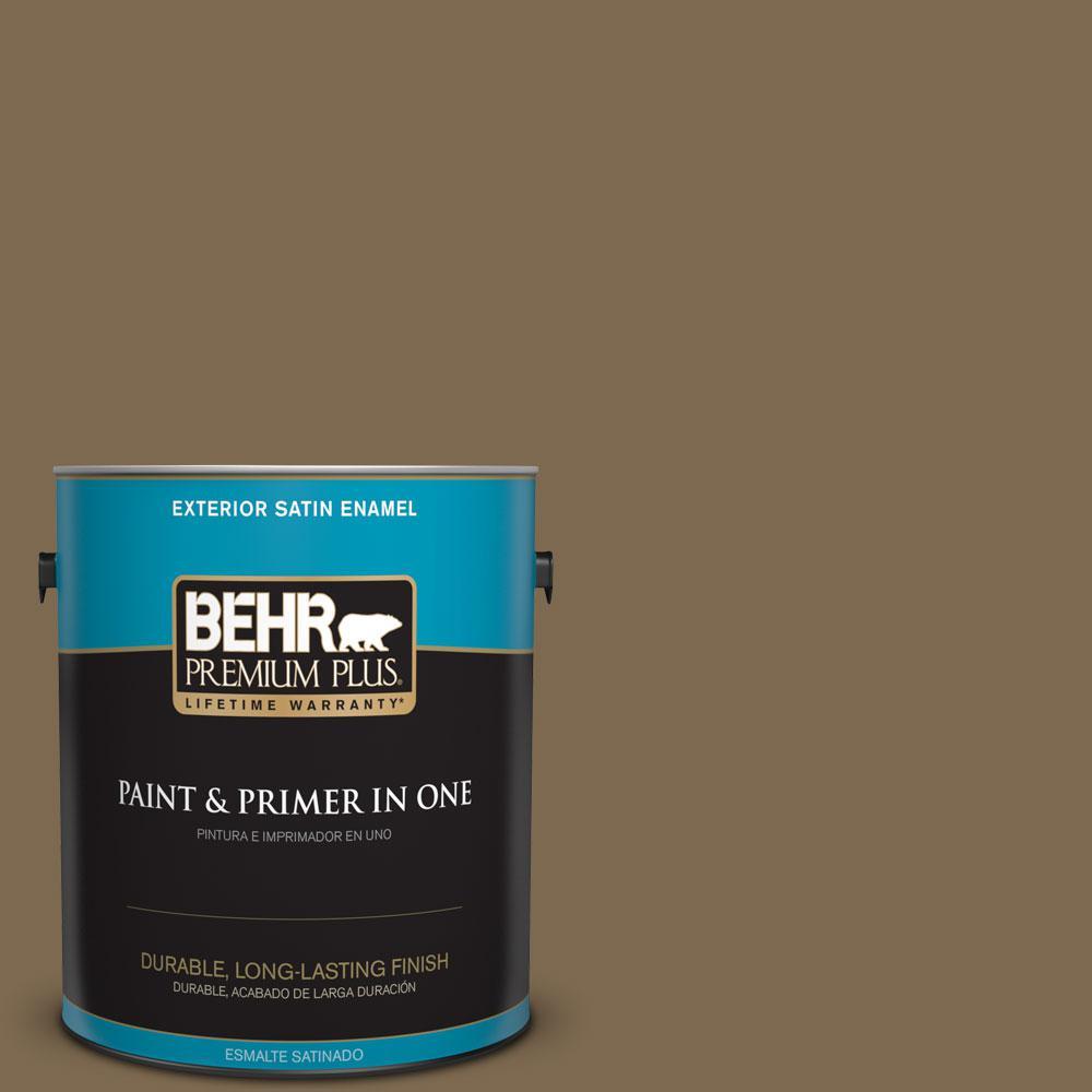 BEHR Premium Plus 1-gal. #N300-7 Mayan Ruins Satin Enamel Exterior Paint
