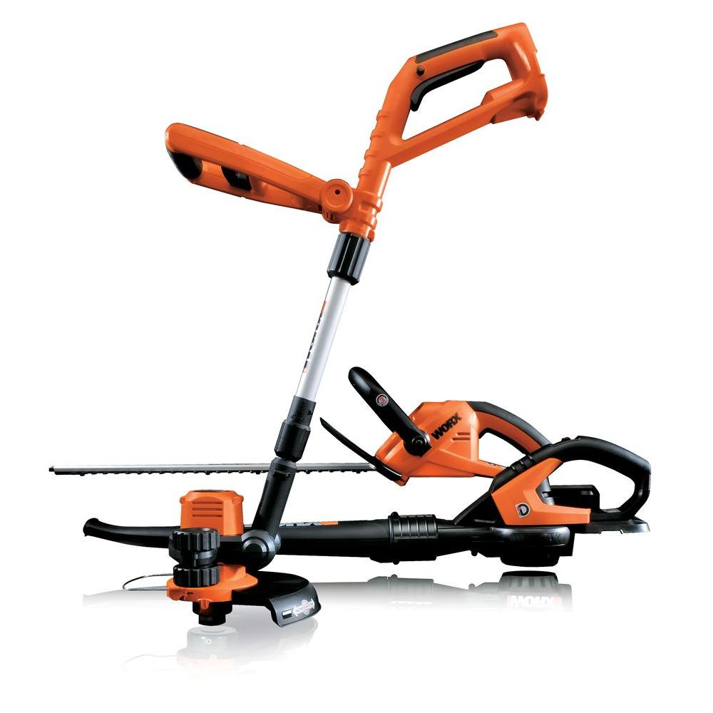 Worx 18-Volt Cordless Electric Combo kit with Trimmer/Edger, Hedge Trimmer , and Blower/Sweeper-DISCONTINUED