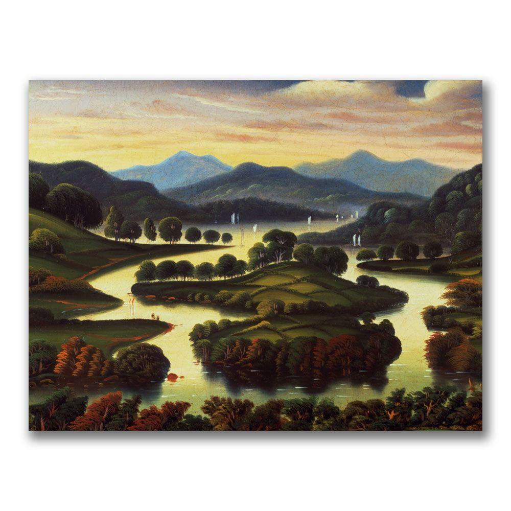 Trademark Fine Art 24 in. x 32 in. Landscape by Jean Baptiste Corot Canvas Art