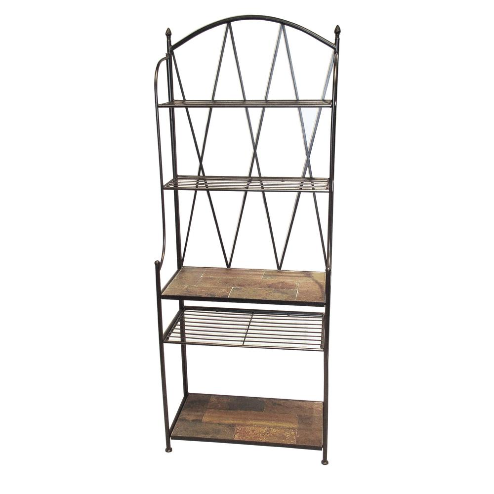 oakland living sun valley baker rack 5306 ab the home depot. Black Bedroom Furniture Sets. Home Design Ideas