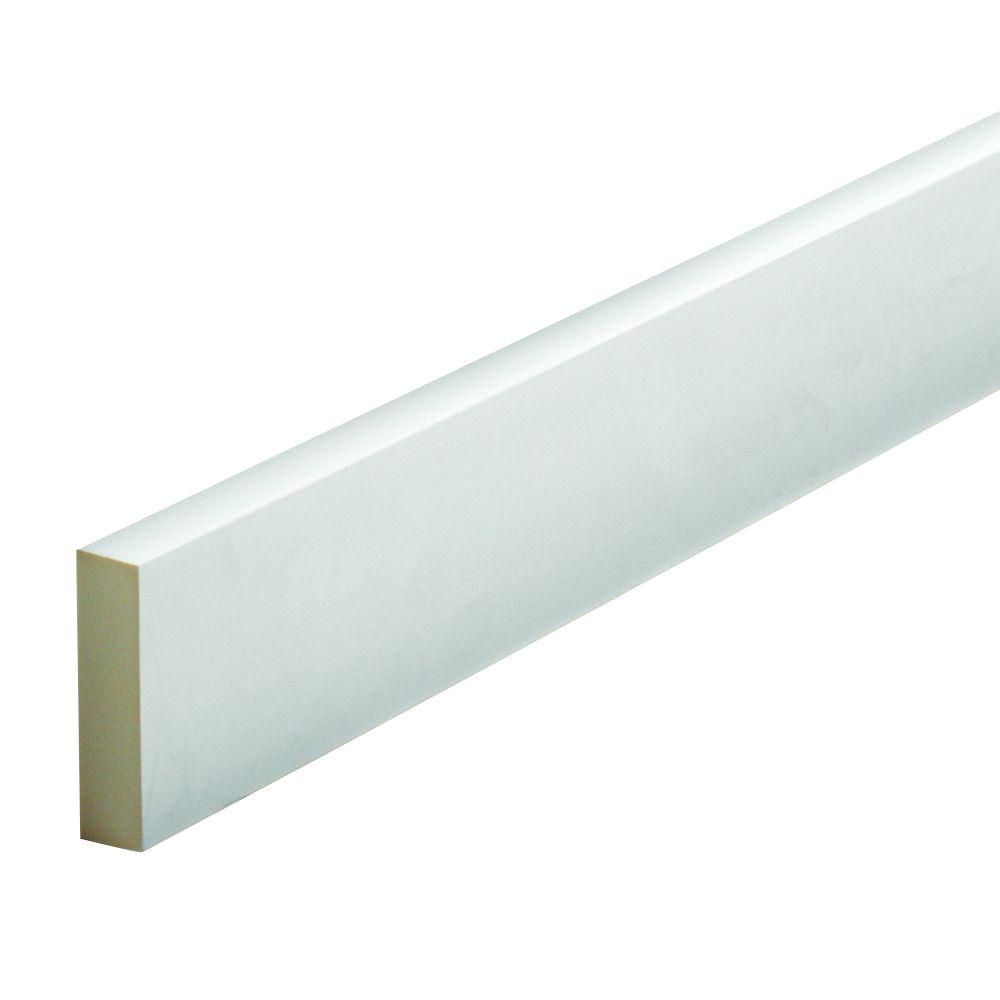 1 in. x 3-1/2 in. x 96 in. Polyurethane Smooth Flat