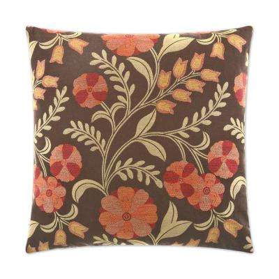Cottage Inn Feather Down 24 in. x 24 in. Standard Decorative Throw Pillow