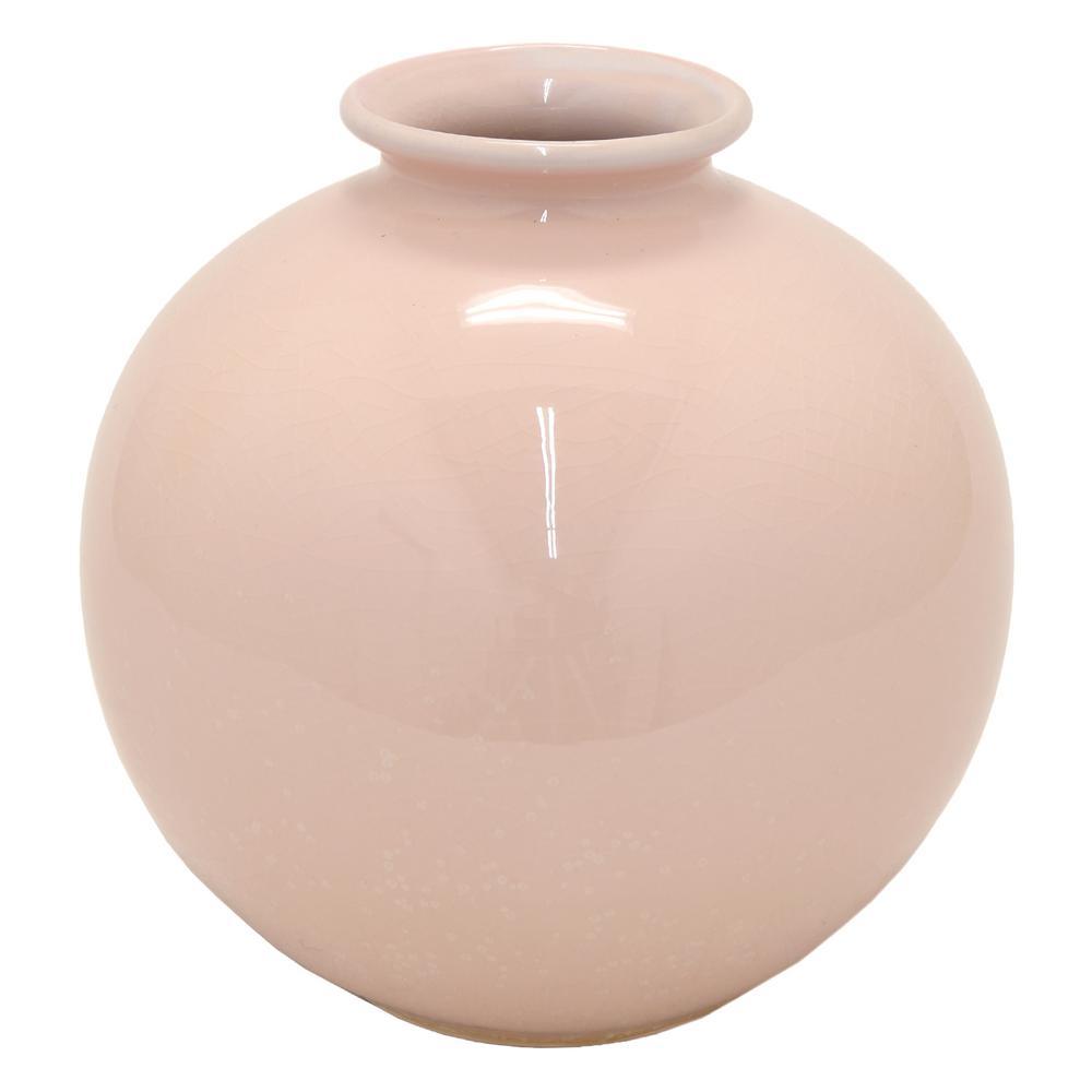 8.5 in. Pink Ceramic Vase