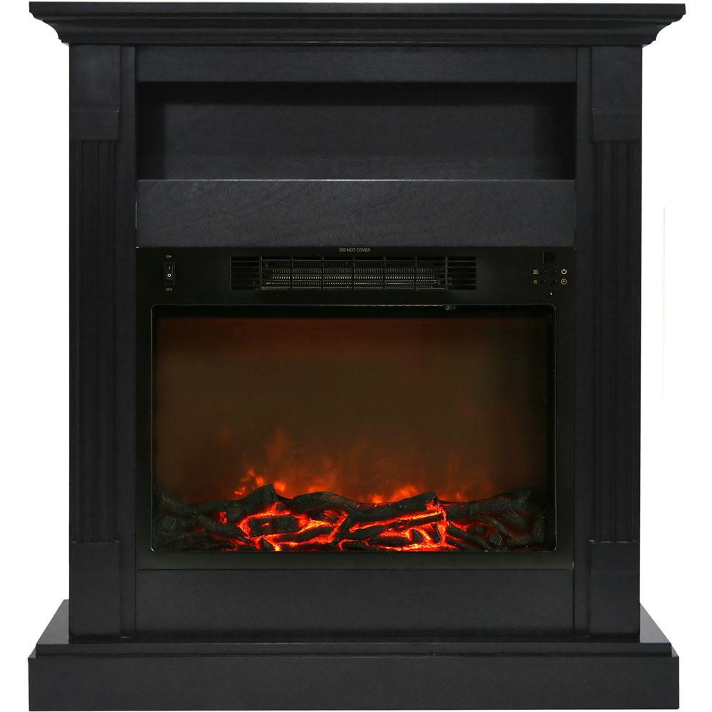 Brilliant Cambridge Sienna 34 In Electric Fireplace With 1500 Watt Log Insert And Black Coffee Mantel Download Free Architecture Designs Rallybritishbridgeorg