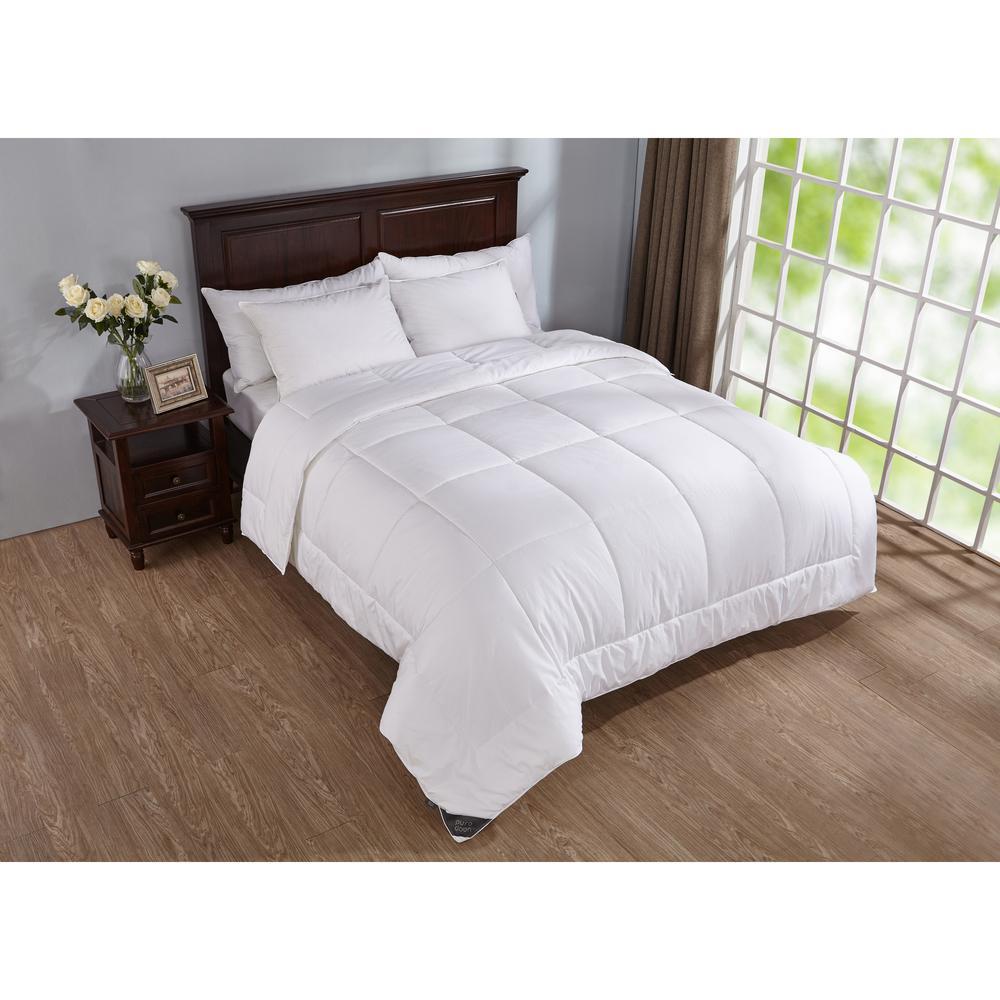 puredown Down Alternative Comforter Year Round Duvet Insert 400 Thread Count White Full//Queen