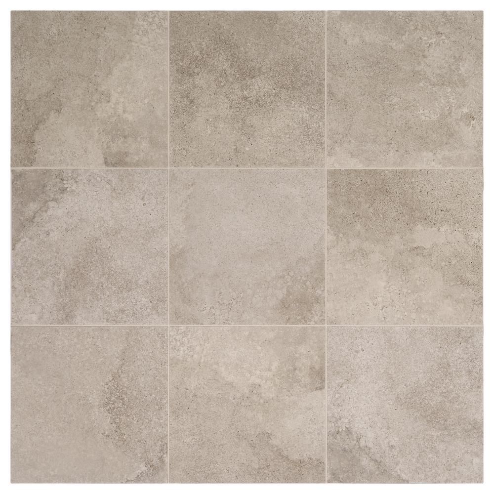 Daltile Hastings Gray 12 In X Glazed Porcelain Floor And