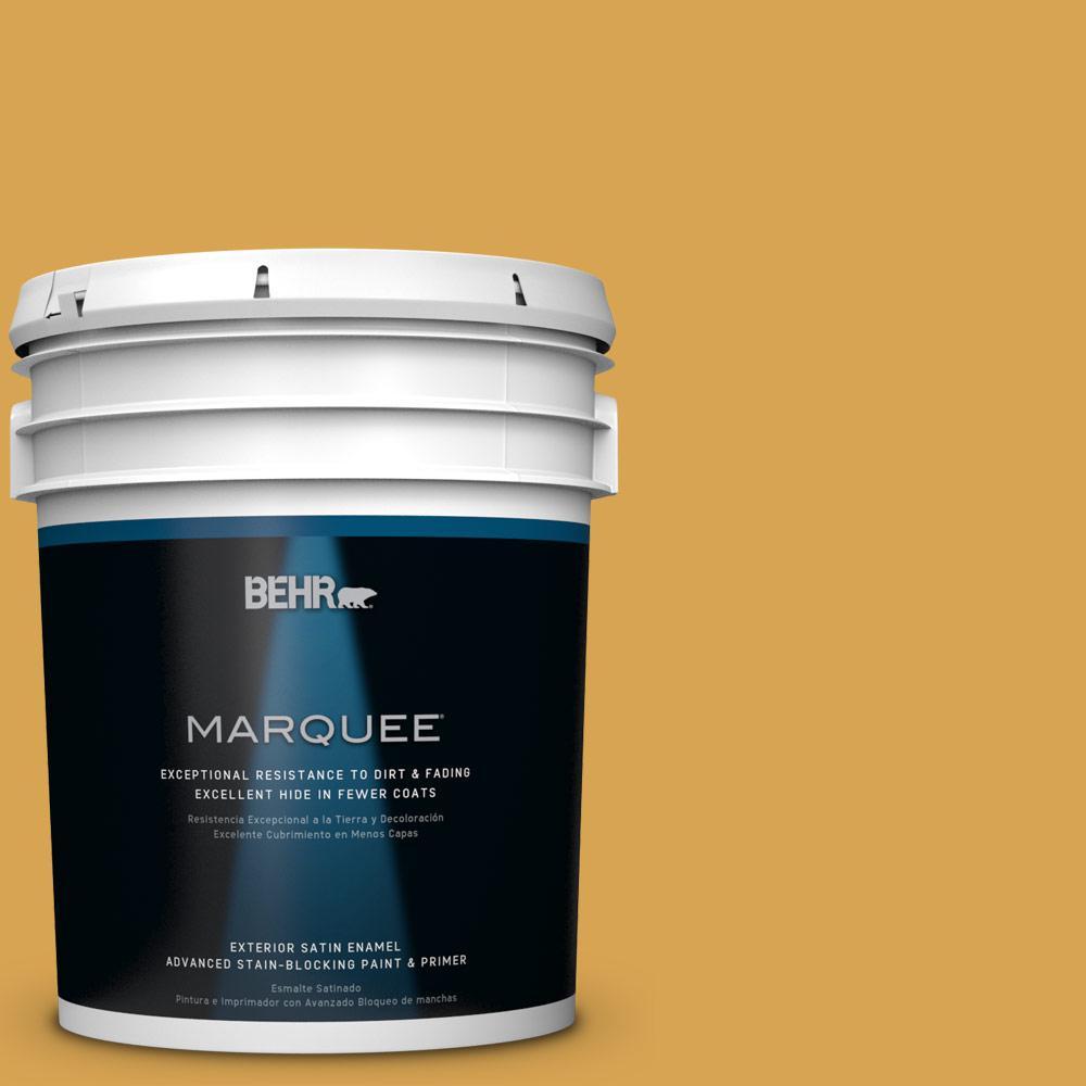 BEHR MARQUEE 5-gal. #M290-6 Plantain Chips Satin Enamel Exterior Paint