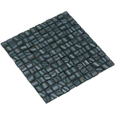 Bella/02 Slate Gray 4 in. x 4 in. x 8 mm Glass Mesh-Mounted Mosaic Tile Sample