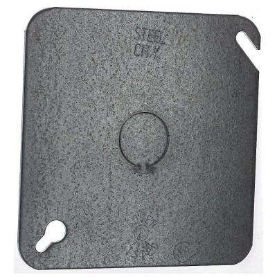 4 in. Square Cover, Flat with 1/2 in. Knockout (Case of 50)