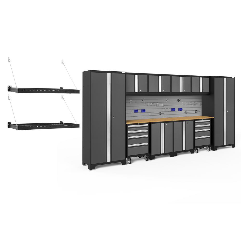 Bold Series 3.0 156 in. W x 77.25 in. H x 18 in. D 24-Gauge Steel Cabinet Set in Gray (12-Piece)