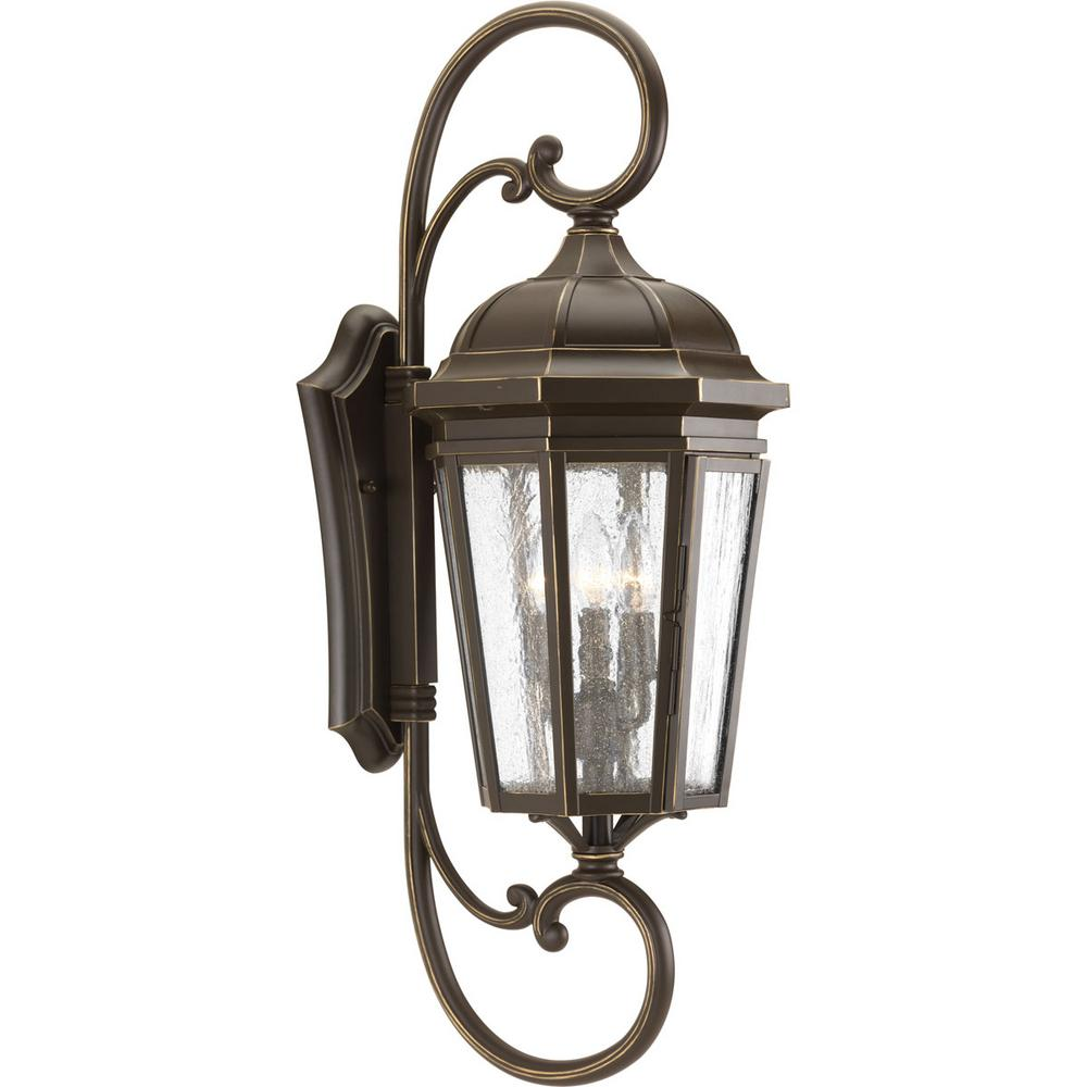 Progress Lighting Verdae Collection 3-Light 30.5 in ... on Outdoor Wall Sconce Lighting id=49734