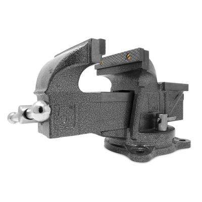 5 in. Heavy-Duty Cast Iron Bench Vise with Swivel Base
