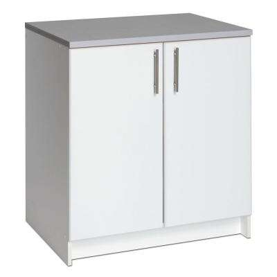 Elite 32 in. Wood Laminate Cabinet in White