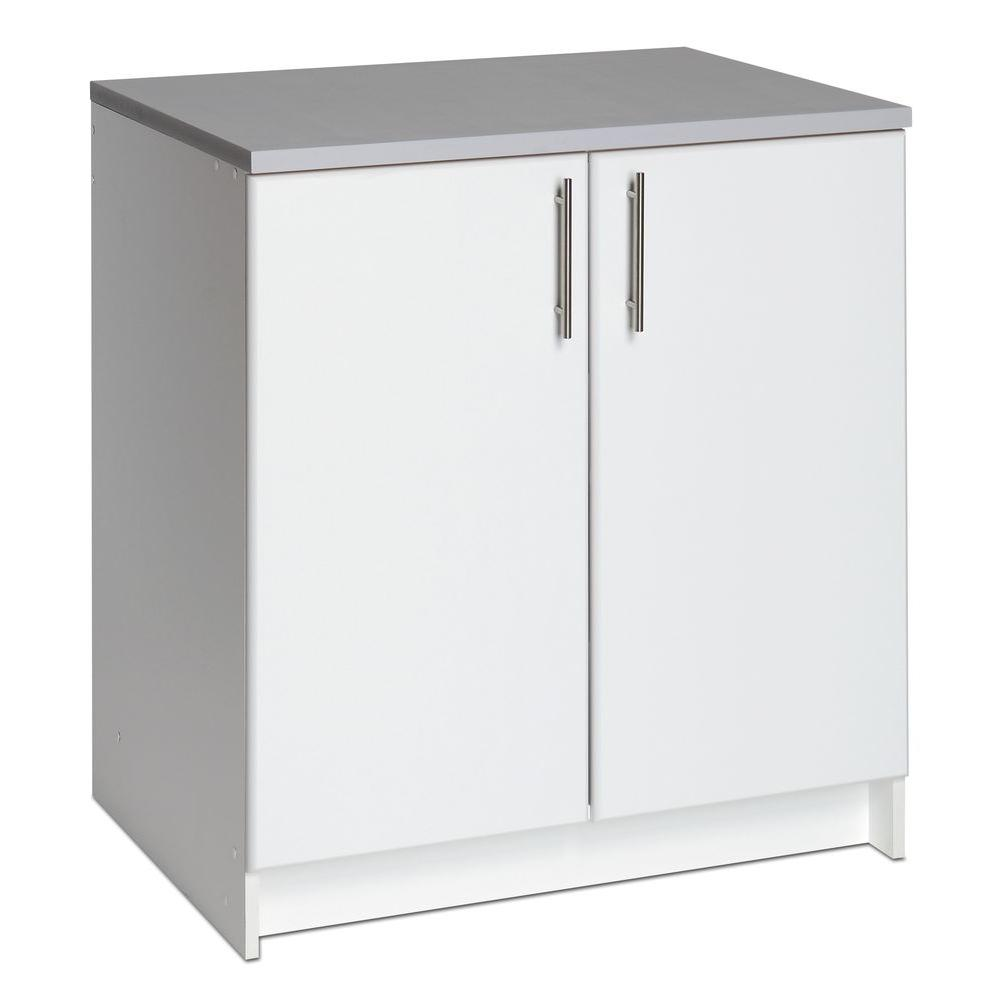 Prepac Elite 32 In Wood Laminate Cabinet In White Web