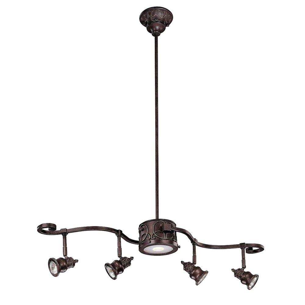 Hampton Bay Kara Light Bronze Track Lighting The Home - Kitchen center light fixture