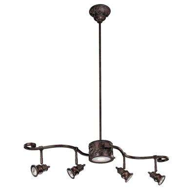 Kara 5-Light Bronze Track Lighting