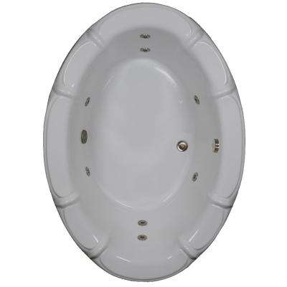 68 in. Acrylic Rectangular Drop-in Air Bath Bathtub in White