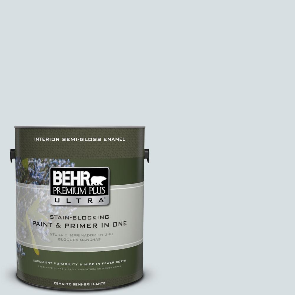 1-gal. #490E-2 Delicate Mist Semi-Gloss Enamel Interior Paint