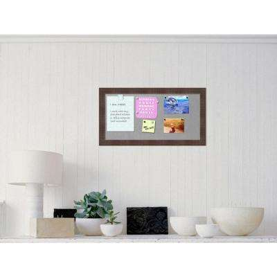 Whiskey Brown Rustic Wood 26 in. W x 14 in. H Framed Magnetic Board
