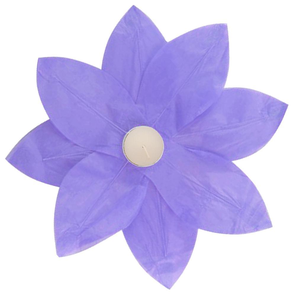 Lumabase Floating Lotus Lanterns in Purple (6-Count)