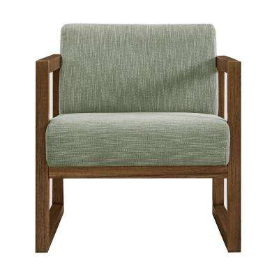Green Modern Style Willow Wood Frame Chair
