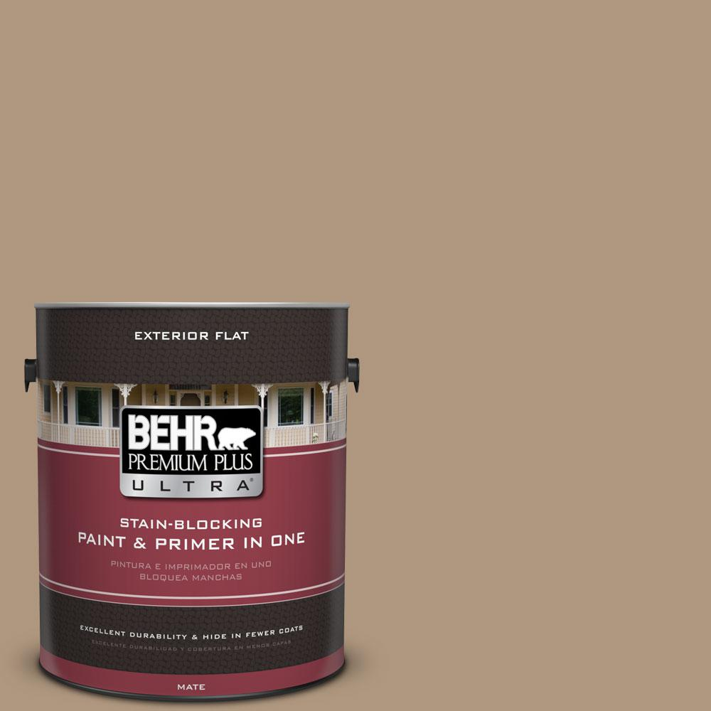BEHR Premium Plus Ultra Home Decorators Collection 1-gal. #HDC-WR14-3 Roasted Hazelnut Flat Exterior Paint