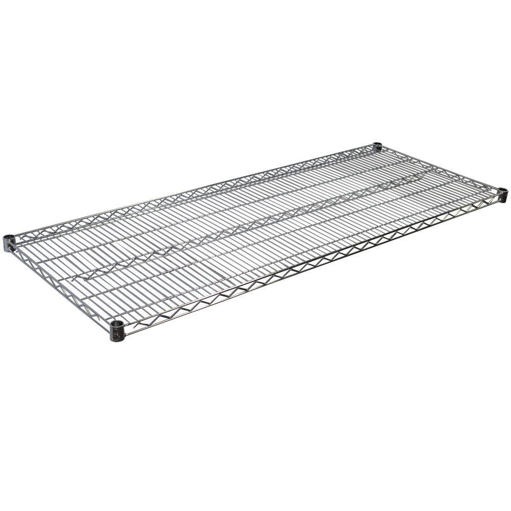 1.5 in. H x 60 in. W x 24 in. D Steel Wire Shelf in Chrome