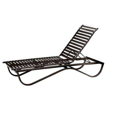 Scandia Java Commercial Strap Stackable Patio Chaise Lounge
