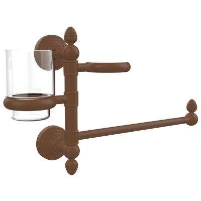 Waverly Place Collection Hair Dryer Holder and Organizer in Antique Bronze