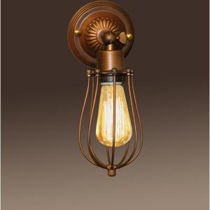 Edison Frances Collection 1-Light Antique Bronze Indoor Wall Lamp by