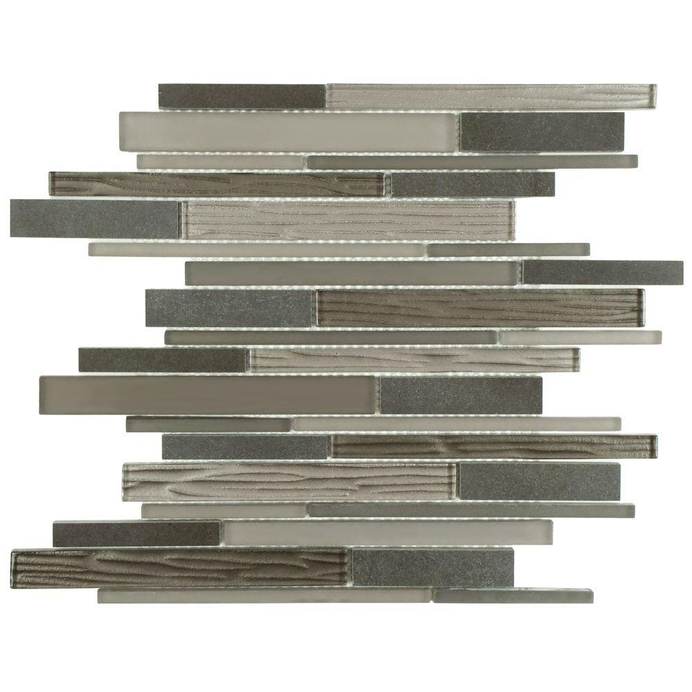 Tessera Grand Piano Basalt 11-3/4 in. x 12-1/4 in. x 8