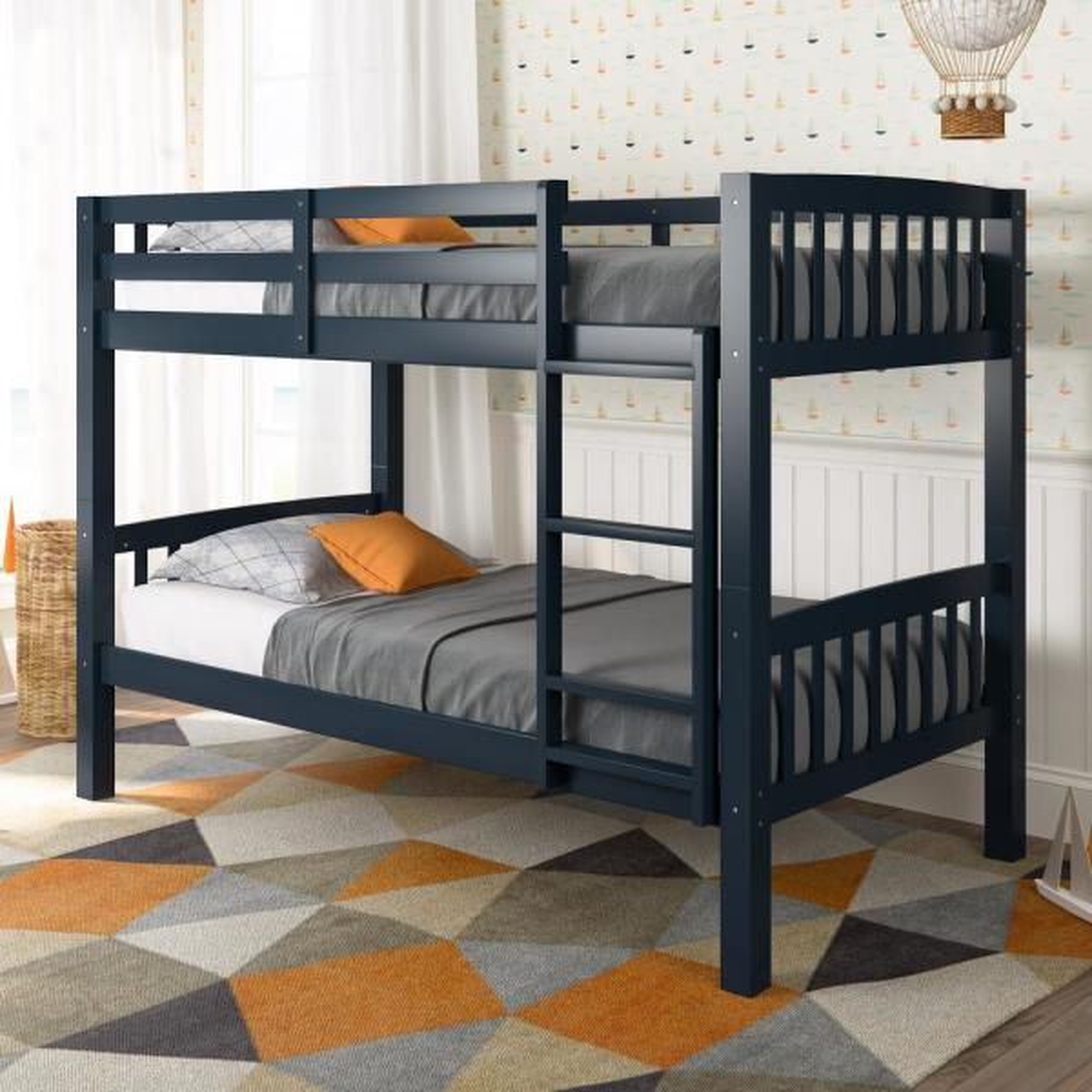 Corliving Dakota Navy Blue Twin Single Bunk Bed Bdn 220 B