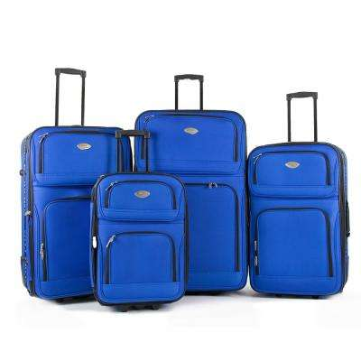 Embark 4-Piece Royal Blue Expandable In-Line Luggage Set