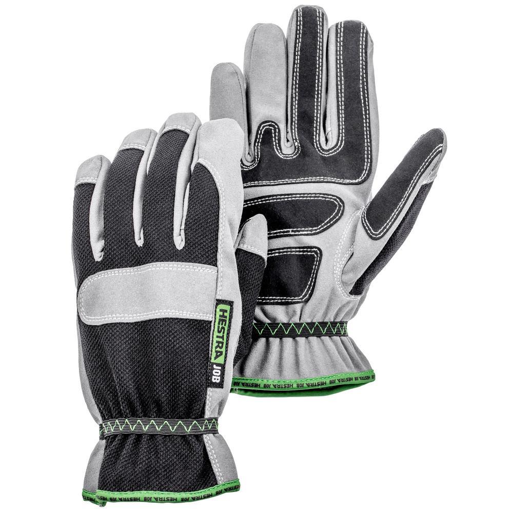 Anton Size 8 Black/Grey Synthetic Suede Glove