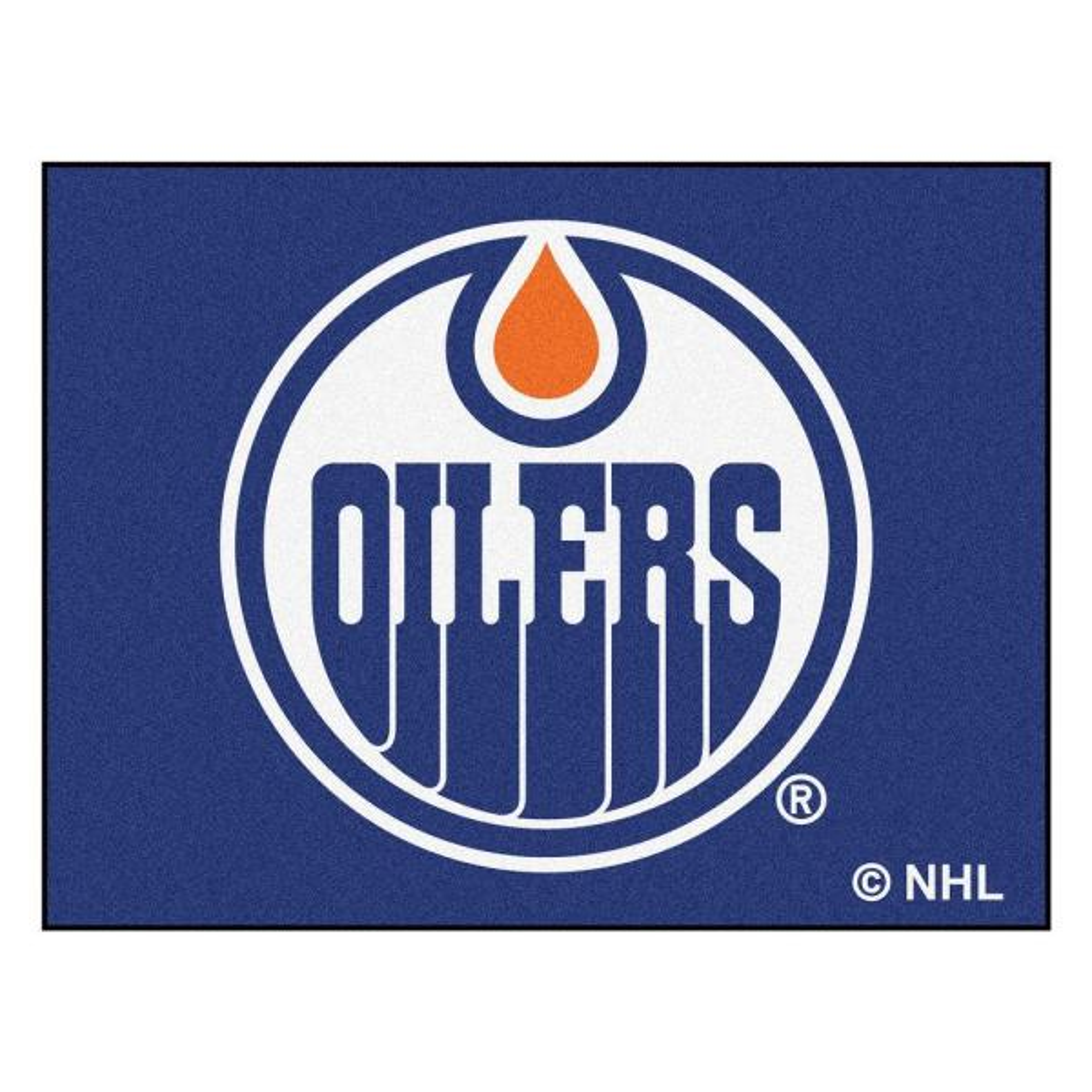 NHL Edmonton Oilers Blue 3 ft. x 4 ft. Indoor All Star Area Rug