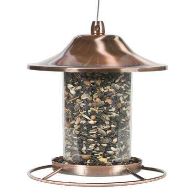 Copper Panorama Hanging Bird Feeder - 2 lb. Capacity