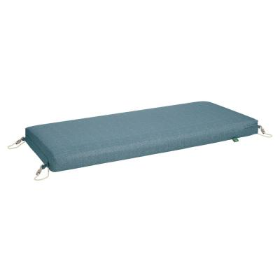 Weekend 48 in. W x 18 in. D x 3 in. Thick Rectangular Outdoor Bench Cushion in Blue Shadow