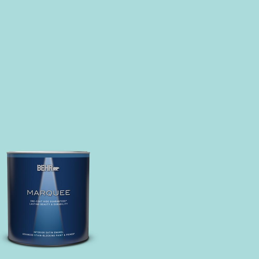 BEHR MARQUEE 1 qt. #M460-2 Beachside Drive Satin Enamel Interior Paint and Primer in One