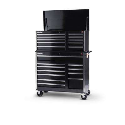 Tech Series 42 in. 21-Drawer Tool Chest and Cabinet Combo Black