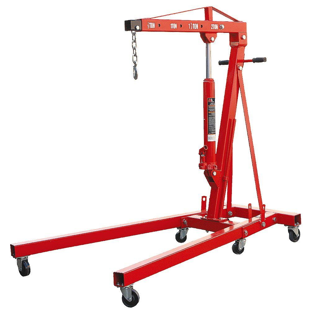 Big Red 2 Ton Foldable Engine Crane-T32002X - The Home Depot Harbor Freight Hoist Wiring Diagram on