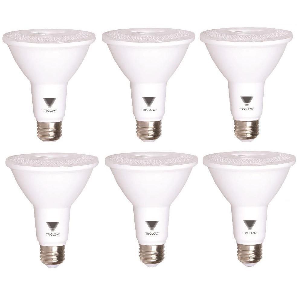 75-Watt Equivalent PAR30 LED Light Bulb Warm White (6-Pack)