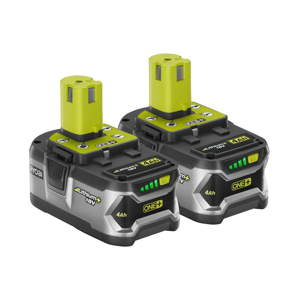 ryobi 18 volt one lithium ion high capacity lithium battery pack 4 0ah 2 pack p122 the. Black Bedroom Furniture Sets. Home Design Ideas
