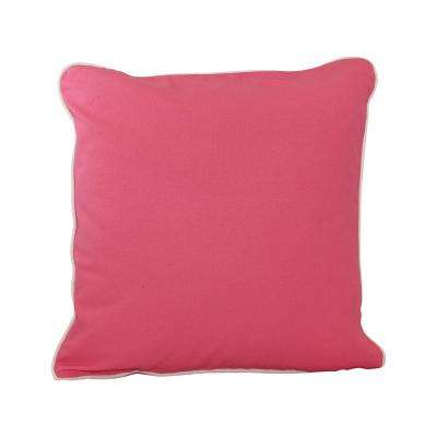 20 in. x 20 in. Coral  Standard Pillow with Green Eco Friendly Insert