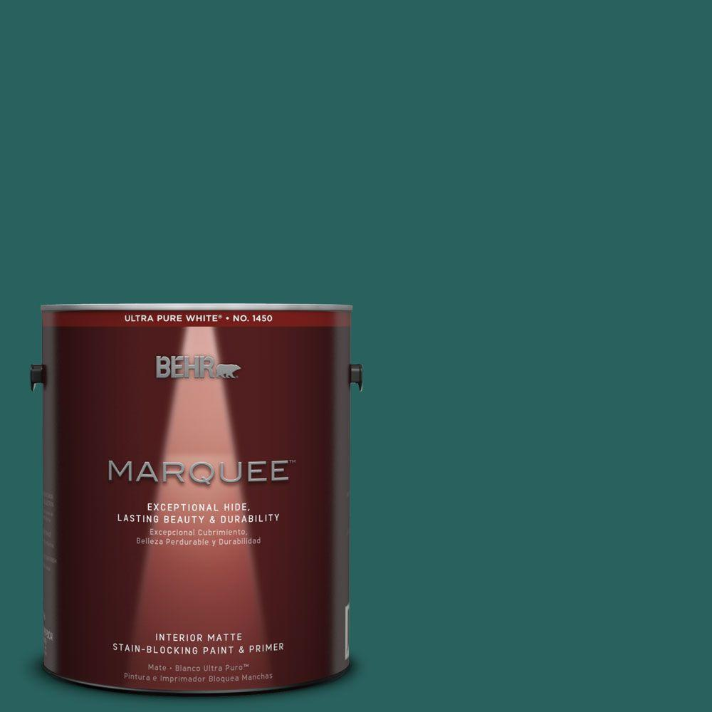 Behr Marquee 1 Gal Mq6 5 Verdant Forest One Coat Hide Matte Interior Paint 145301 The Home Depot