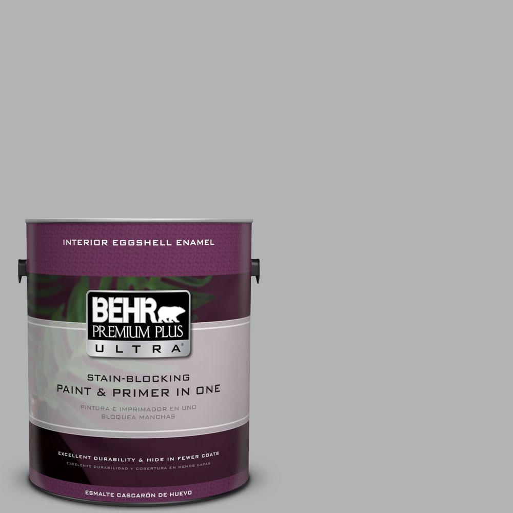 BEHR Premium Plus Ultra 1 gal. #770E-3 Pewter Mug Eggshell Enamel Interior Paint and Primer in One