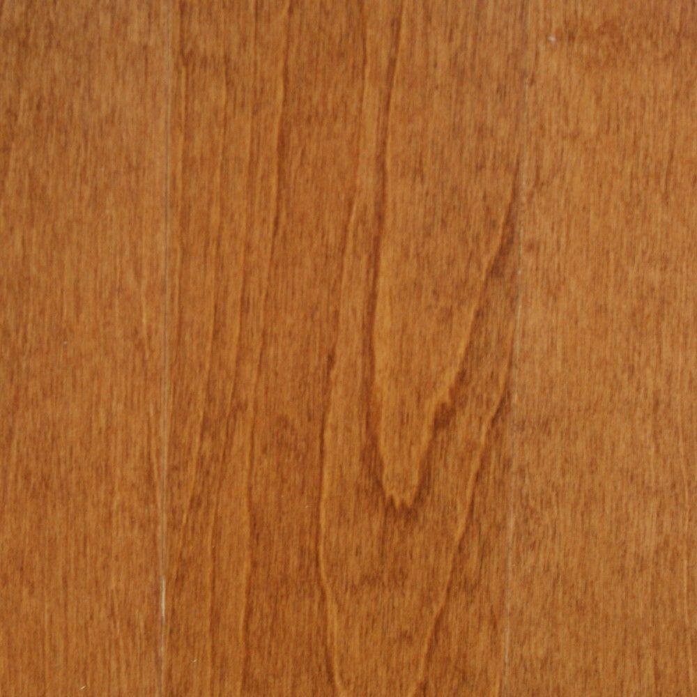Millstead Take Home Sample Birch Dark Gunstock Engineered Click Hardwood Flooring 5 In. X 7 In.