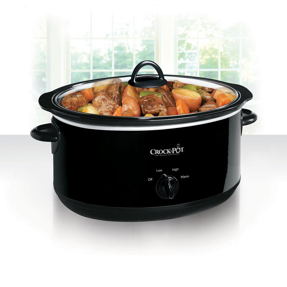 Crock Pot 8 Qt Manual Slow Cooker In Black