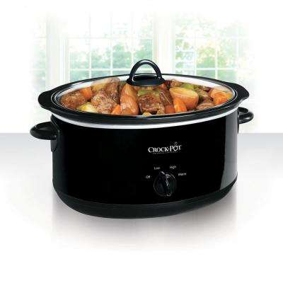 8 Qt. Manual Slow Cooker in Black