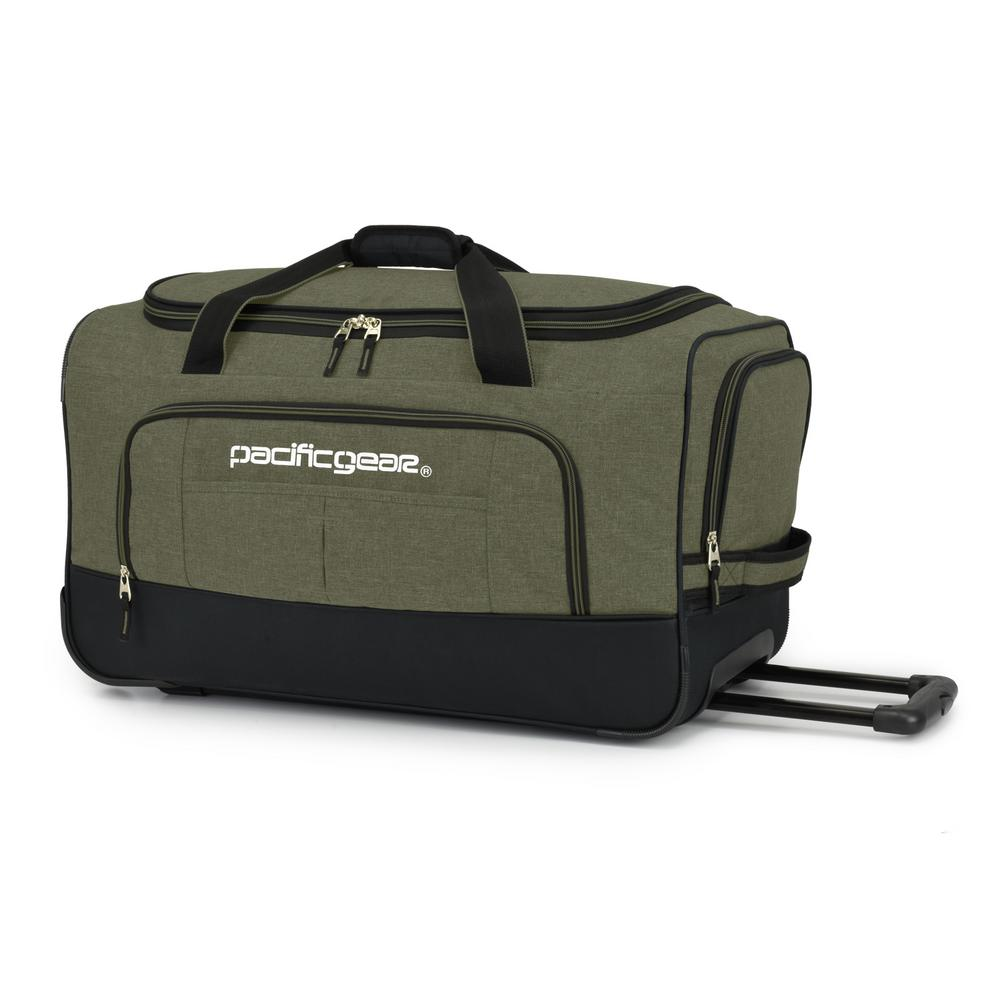 Keystone 25 in. Rolling Olive Duffel Bag