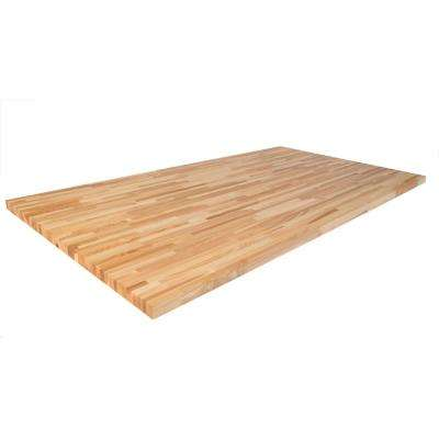 6 ft. 2 in. L x 3 ft. 3 in. D x 1.5 in. T Butcher Block Countertop in Unfinished Ash